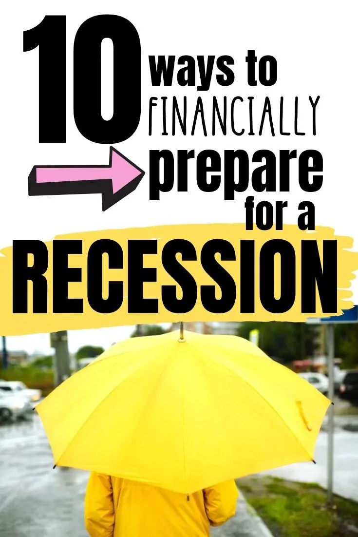 If you think a recession is on the horizon, don't stress, there are 10 things you can do today to help you financially prepare for a recession.