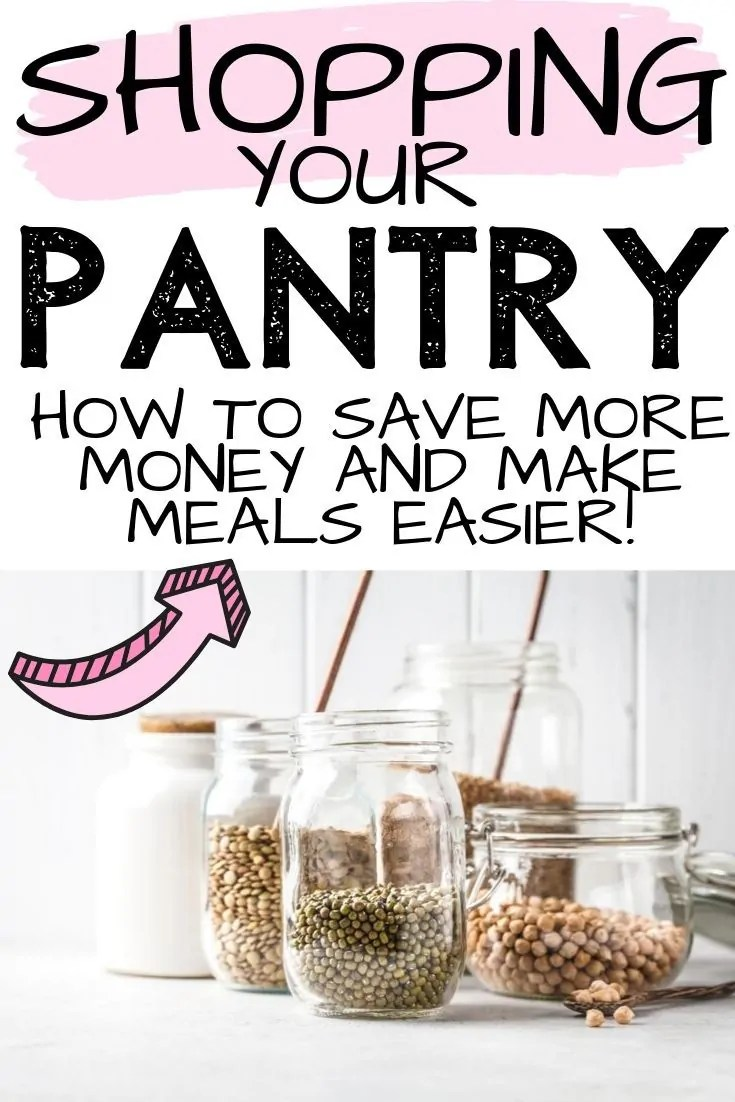 The best way to meal prep for the week and save money is to start by shopping your pantry before you go grocery shopping. Use this simple guide to start!