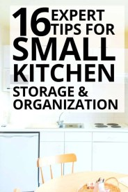 16 Expert Tips for Small Kitchen Storage and Organization