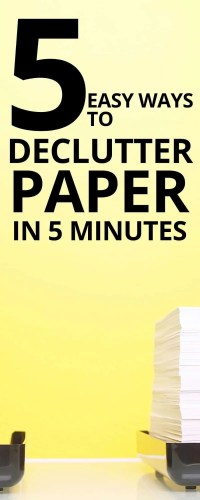 5 Step Method to Decluttering Paper in 5 Minutes