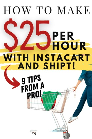 How to Start a Side HUstle Making $25 - $30 Per Hour with Shipt and Instacart