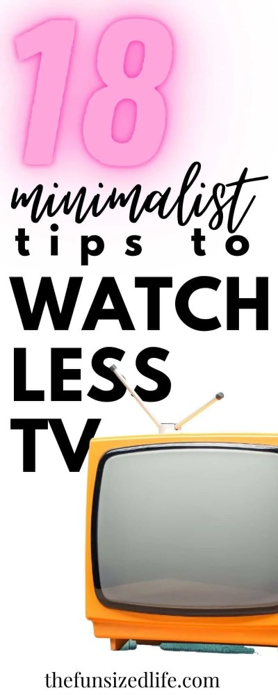 Have you been thinking about watching less TV? Here are 18 unique ideas on how you can reduce the amount of time you're watching!