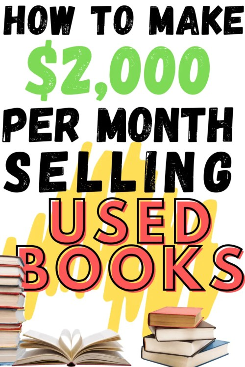 Thift store lovers!! Want to know how you can get paid for thrifting? See how one woman makes over $2,000 per month selling used books!