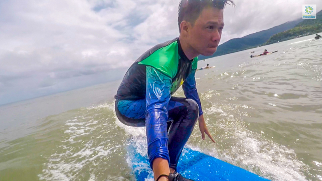 Surfing in Baler