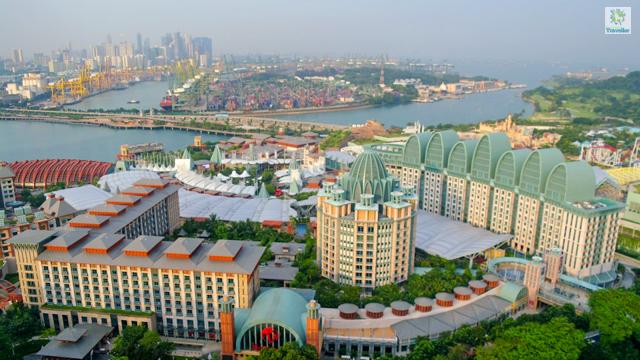 A full view of Resorts World Sentosa.