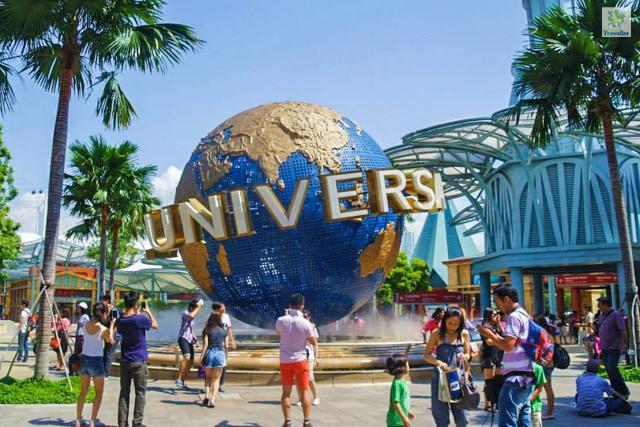 The big globe at Universal Studios.