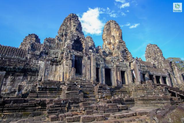 The many-face stone Bayon temple.
