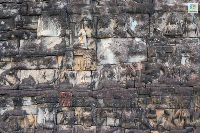 A few walk further is the Terrace of the Leper King with the most-details bas relief you can find in all of Angkor.