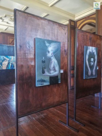 Some of the art pieces showcased at Molo Mansion.