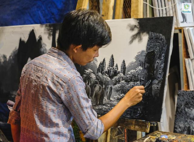 At the workshop inside Angkor Night Market