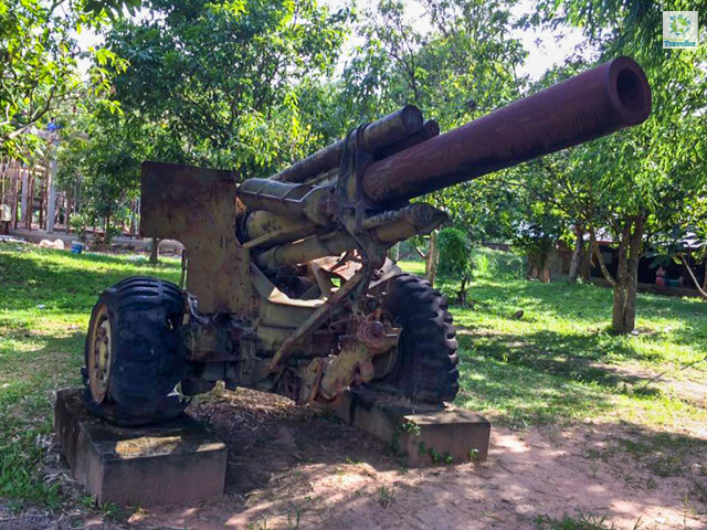 An old tank at Landmine Museum.