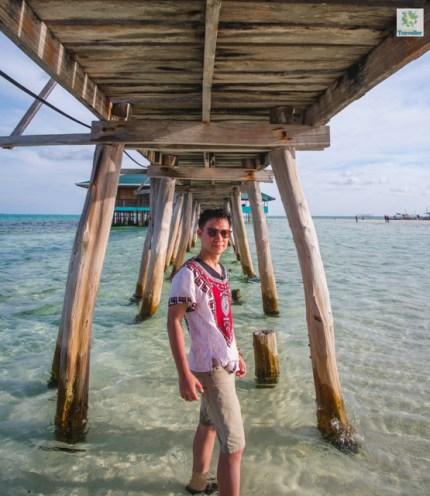 Under the boardwalk of Onuk Island.
