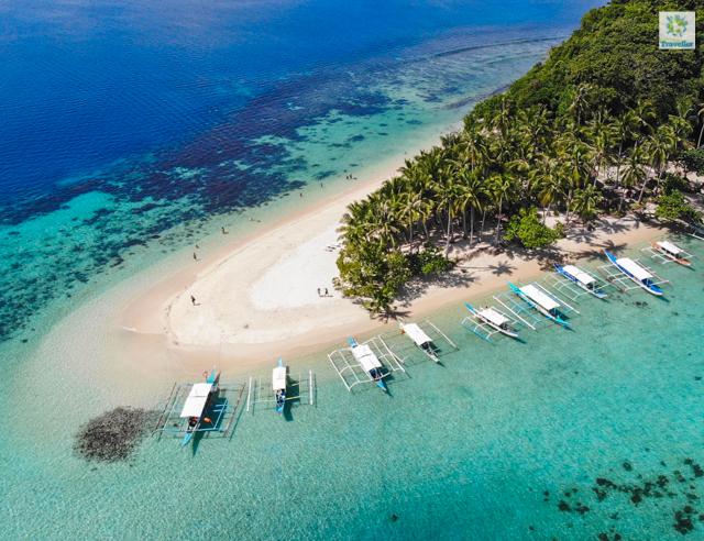 Inaladelan or German Island of Port Barton, San Vicente, Palawan.