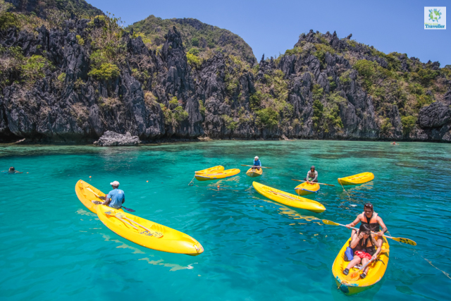Kayaking activity at the mouth of Big Lagoon.