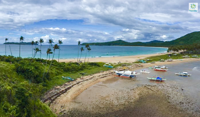 The twin beaches at Nacpan.