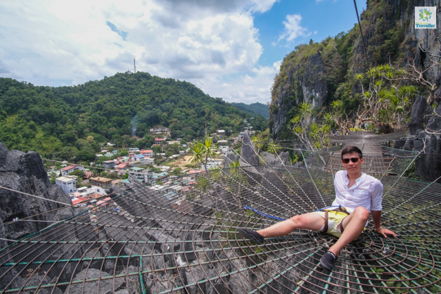 Sitting comfortably at a dreamcatcher at the lower part of Taraw Cliff.