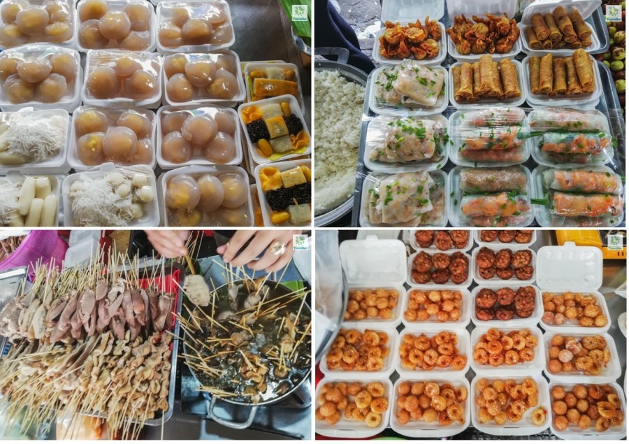 Food items sold at the Central Market.
