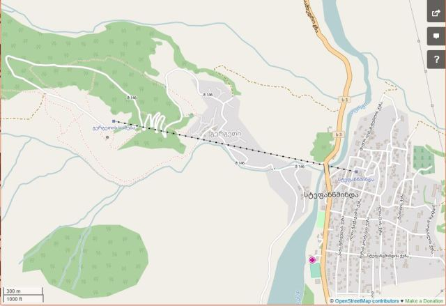 Open street map Kazbegi