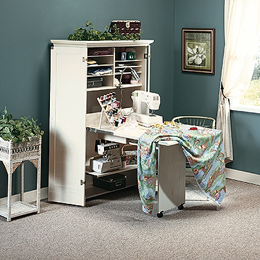 Sauder Harbor View Sewing / Craft Armoire (158097 ...