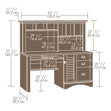 Sauder Harbor View Desk W Hutch 415109 Sauder The Furniture Co