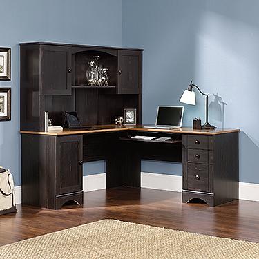 Sauder Harbor View Corner Desk 403794 The Furniture Co