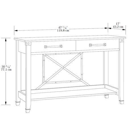 Sauder carson forge sofa table 414443 sauder the for Sofa table height