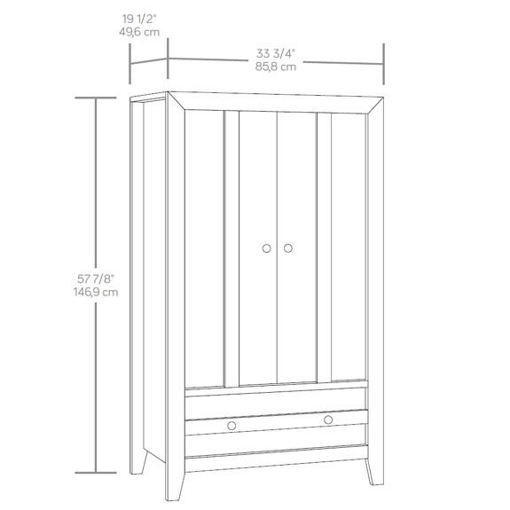 Sauder 419077 Dakota Pass Armoire The Furniture Co