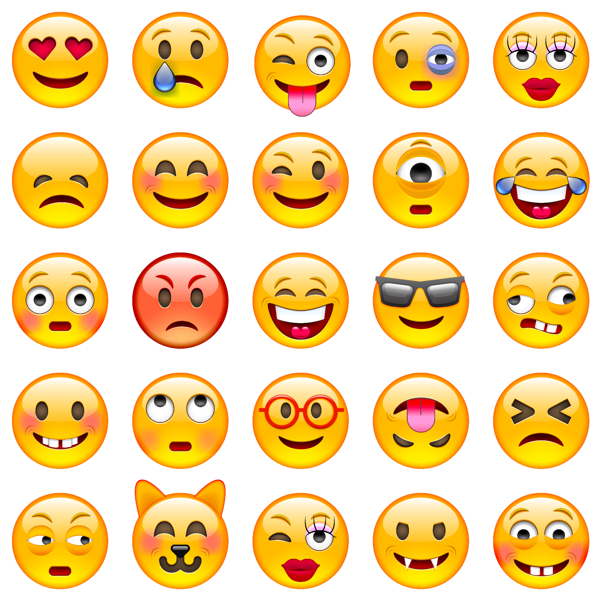 Printable Face Emotions Chart Feeling
