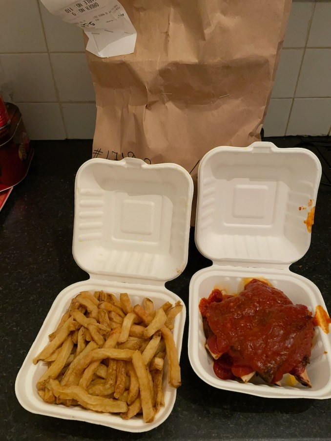 PHX Burger, Fries and Ribs