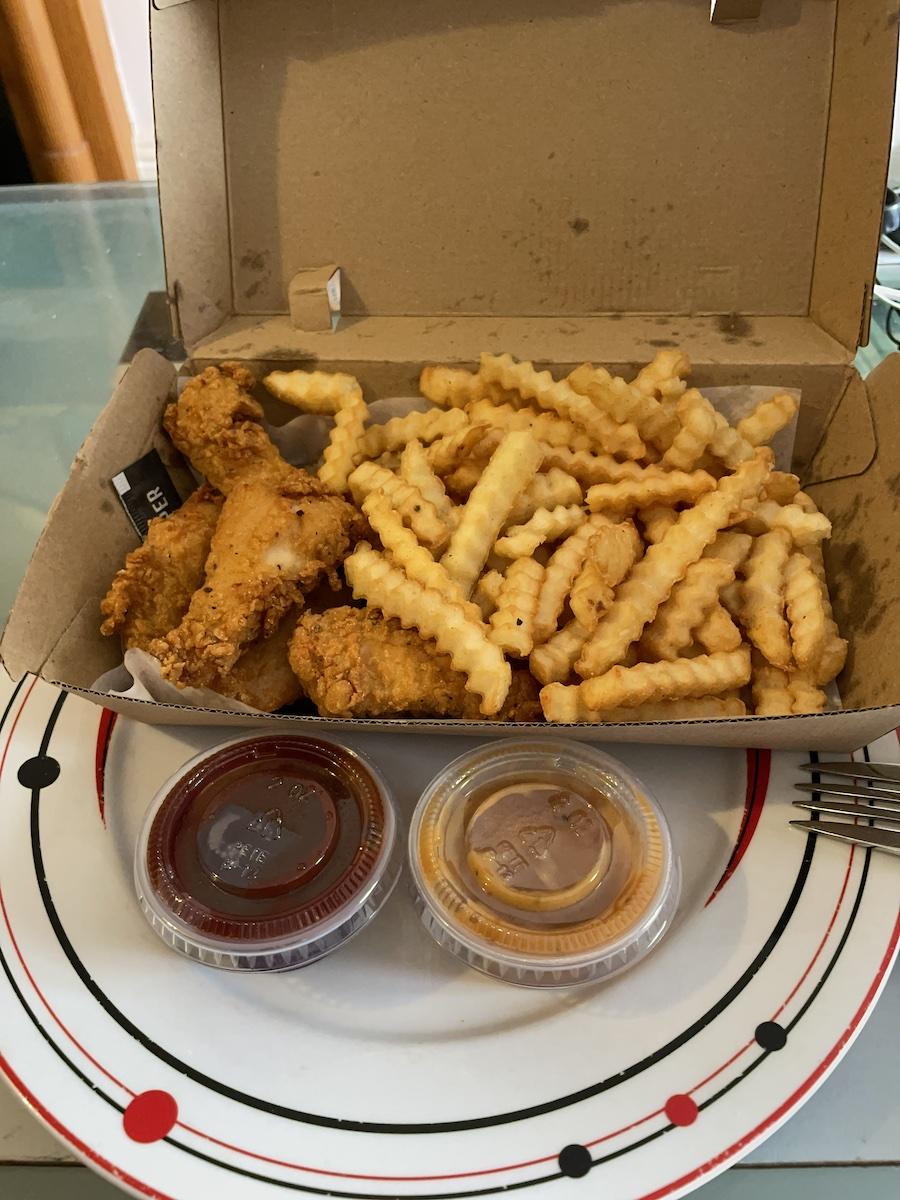 Tender Hooks tenders fries and dips