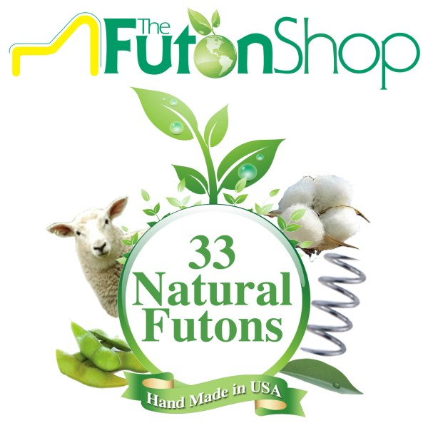 Chemical Free Mattresses   Eco Friendly Bed Mattresses   The Futon Shop Pure Comfort Organic Cotton   Wool Futon Bed Mattress   Chemical Free  Organic Cotton   MicroCoils
