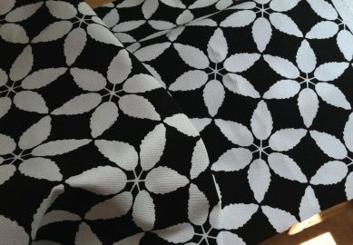 franklins tower black and white canvas pattern organic cotton futon cover