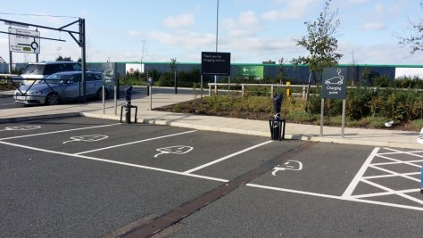 Electric Charge Points at Waitrose in Ipswich