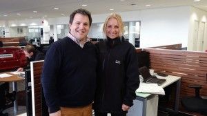 Matt Porter and Emily Adcock from Cooper BMW Norwich