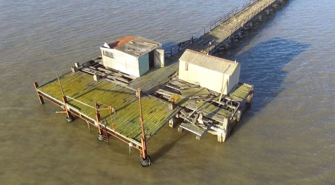 Drone footage offers new views of Shotley pier as group receives £100,000 Co-operatives UK funding – News – East Anglian Daily Times