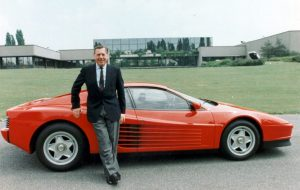 Sergio Farina with the Testarossa