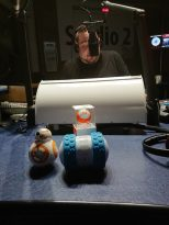 Wayne is watched by Sphero BB-8, Sphero Mini and Sphero Ollie