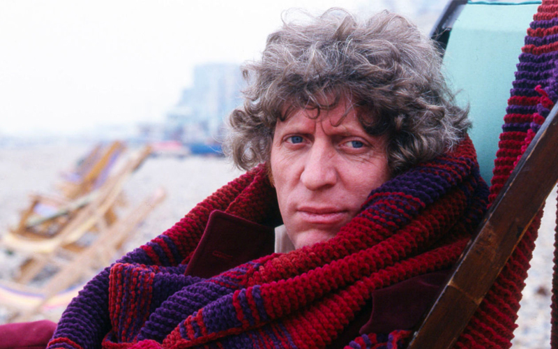 Fourth Doctor Season 18 burgundy scarf