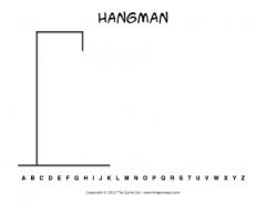 Zany image regarding printable hangman