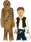 Pictionades (pictionary meets charades): Star Wars version