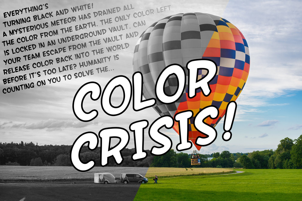 Diy Escape Room Kit Color Crisis The Game Gal