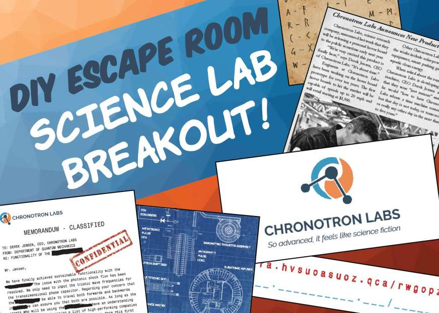 Diy Escape Room Kit Science Lab Breakout The Game Gal