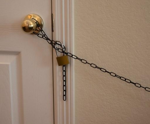 locked closet in diy escape room