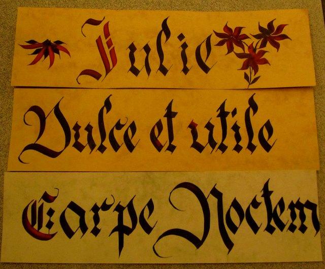 Ljubljana castle calligraphy
