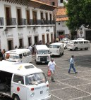 11 tips for travel in Mexico: combi vans in Taxco