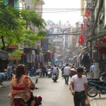 scary travel experiences - crossing the road in Vietnam, motorbikes
