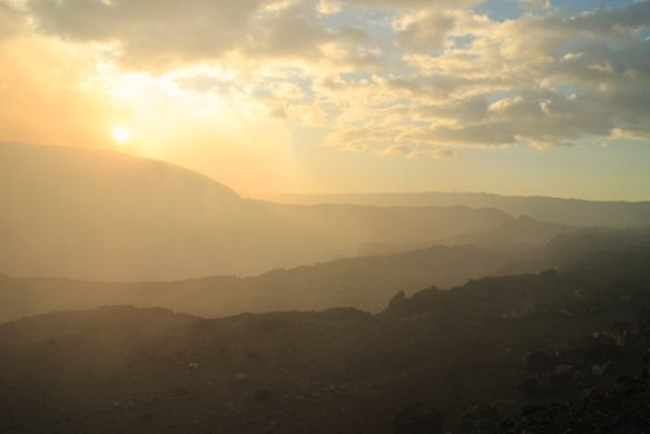visit volcanoes in Nicaragua - Volcan Masaya at sunset