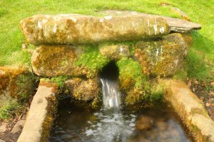 experiences before I die - photo of moving water: Jervaulx Abbey, Yorkshire