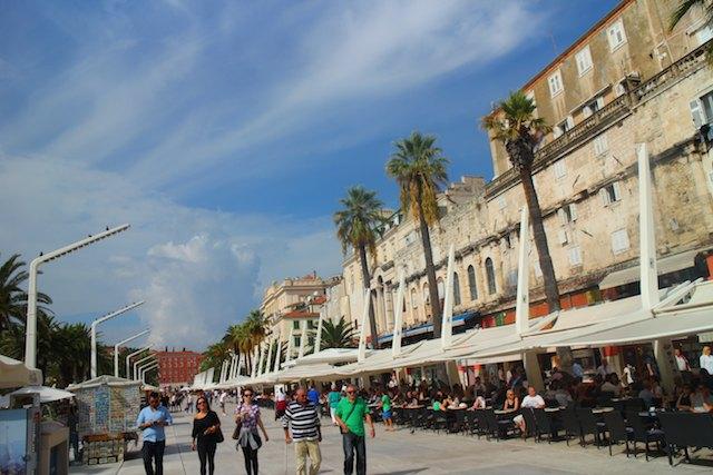 Split or Dubrovnik? The Riva, Split's promenade
