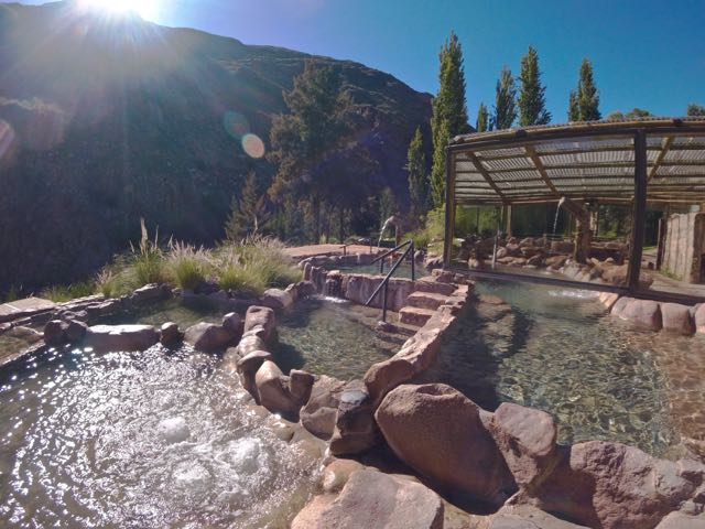 outdoors pools at the Termas de Cacheuta hot springs